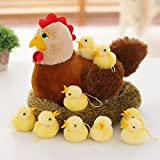 Wukong Creative Old Hen Plush Toys Chicken Plush Toy with A Group Chicken Plush Toys
