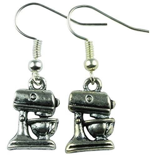De Funky Barcode BAKERS KITCHEN MINI MIXER DANGLE OARRINGS Geschenkdoos Beschikbaar