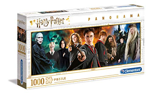 Clementoni- PZL 1000 Panorama Harry Potter Puzzle Adulto, Multicolor (61883)