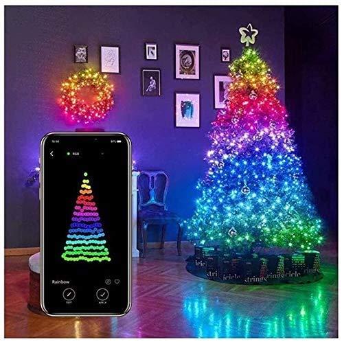 Luci Natalizie controllate App Intelligenti, Illuminazione, luci a Stringa LED, Luce Telecomando App, luci Decorazione Albero Natale - Decorazione Giardino Albero Natale Luci a Stringa LED Personali