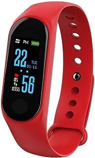 Pulsera de fitness, resistente al agua IP68, monitor de fitness, pantalla a color, monitor de actividad, reloj inteligente, pulsómetro, podómetro, para mujer, hombre, llamada, SMS, para iPhone y Android