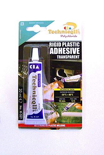 Sterke Duidelijke Lijm voor Hard Plastic ABS TR EVA Perspex Acryl Glas Nieuw HELDER/KLEURLOOS