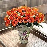 Ymwenj Fiore Decorativo Flor Falsa de Seda Rosa Muchas Rosas Accesorios gitanos Rosas pequeñas Boda decoración del hogar