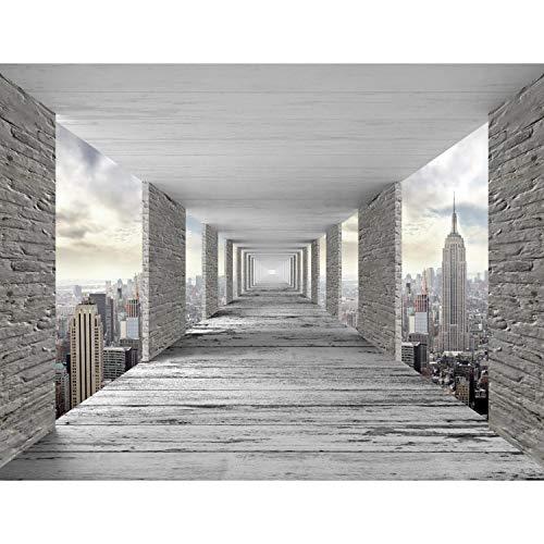 Fototapete 3D New York 352 x 250 cm Vlies Tapeten Wandtapete XXL Moderne Wanddeko Wohnzimmer Schlafzimmer Büro Flur Grau 9157011a