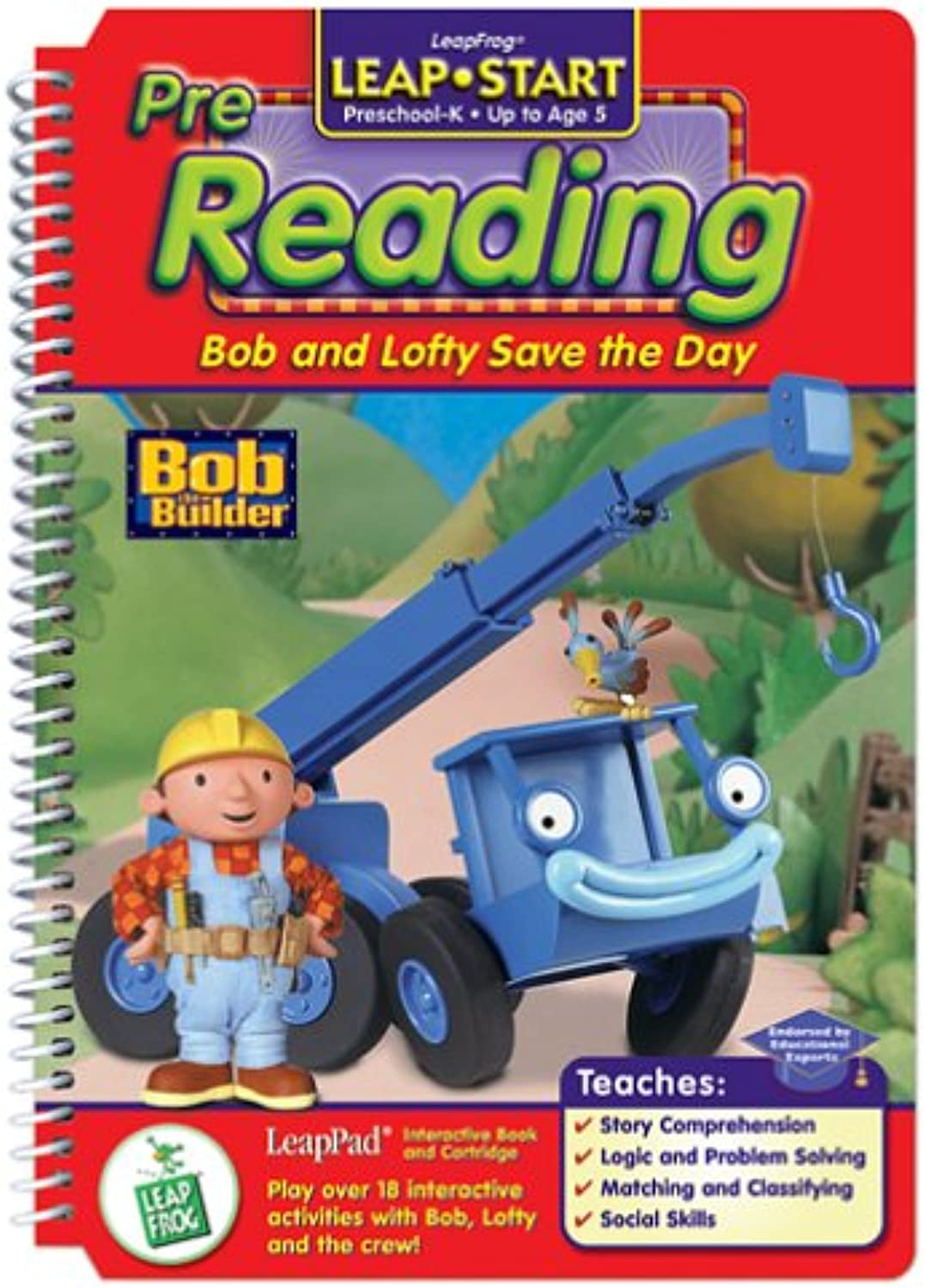 LeapPad  LeapStart PreReading   Bob and Lofty Save the Day  Interactive Book and Cartridge