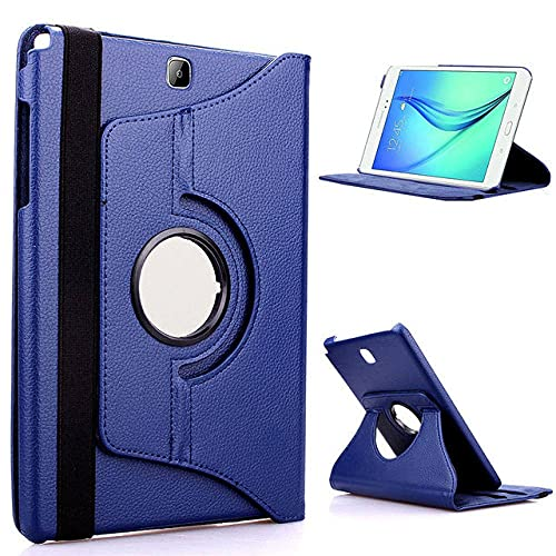 LIUCHEN Funda de tabletaPU Leather S2 8.0 SM-710 Funda para Tableta con imán Inteligente para Samsung Galaxy Tab S2 8.0 & quot;T710 T715 T719 Protector de Despertador / sueño, para T710 Deep Blue