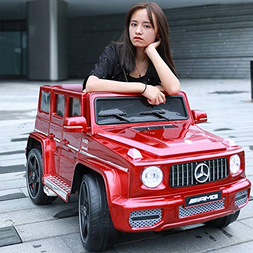 Mercedes-Benz G65 licencia Niños del coche eléctrico en las cuatro ruedas suave EEAT grandes estupendos del coche eléctrico de los niños con velocidad ajustable a distancia SUV todoterreno for los niñ