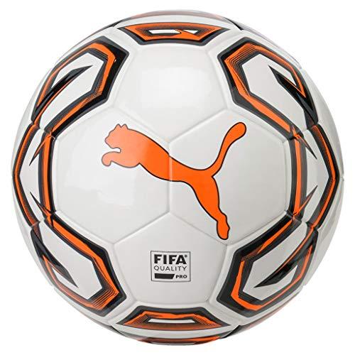 PUMA Fußball Futsal 1 FIFA Quality Pro, Puma White-Shocking Orange-Puma Black, 4, 82972
