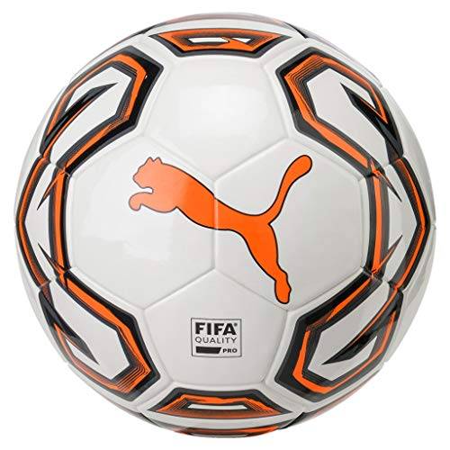 PUMA Futsal 1 FIFA Quality Pro Fußball, White-Shocking Orange Black, 4