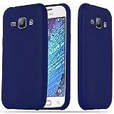 Cadorabo Funda para Samsung Galaxy J1 2015 en Candy Azul Oscuro - Cubierta Proteccíon de Silicona TPU Delgada e Flexible con Antichoque - Gel Case Cover Carcasa Ligera