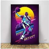 A&D Kobe Bryant Basketball Superstars Kunst Leinwand Poster