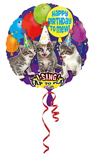 amscan Folienballon Sing-A-Tune Happy Birthday, Siehe Abbildung, 71,2 cm (28 Zoll)