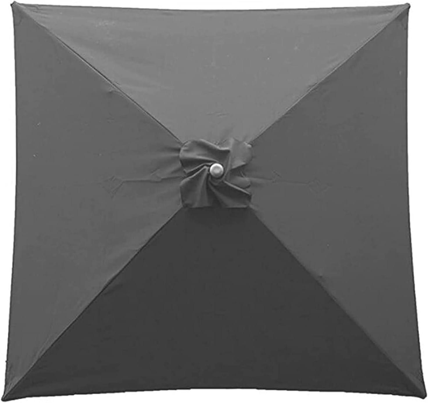 Paño de repuesto para sombrilla Cubierta de dosel de parasol de reemplazo de 2x2m / 4 brazos, cubierta de protección de sombrilla de patio con dosel, toldo de mesa para patio de jardín Piscina de pati