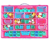 Life Made Better Storage Box for Shopkins Toys, Compatible Carrying Case for Figurine holder, Pink