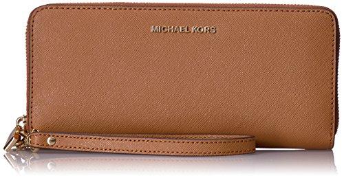 Michael Kors Damen Money Pieces Münzbörse, Braun (Acorn), 1.9x10.2x21 Centimeters