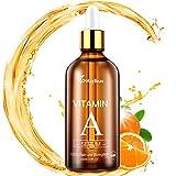 Vitamin A Serum 100ml Retinol Serum für Gesicht und Haut mit Vitamin C & E Vegan Hyaluronsäure - Anti-Aging Lift Serum von MayBeau