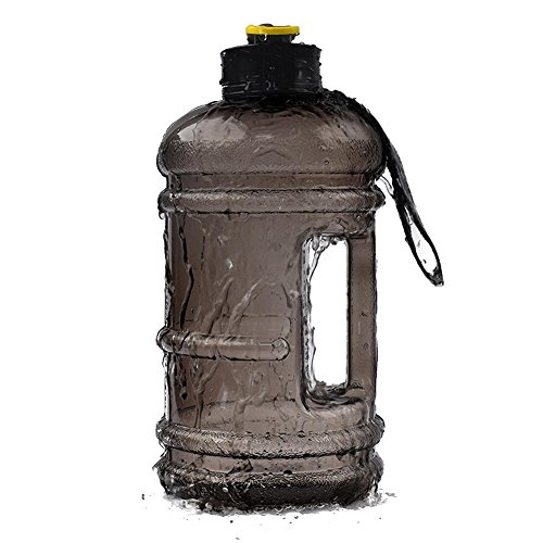 DrafTor 2.2L Borraccia Sport Bottiglia Senza BPA Fitness Borraccia Sport Bottiglia di Acqua Bollitore per il Vostro Allenamento Fitness Sport Training Outdoor, Nero