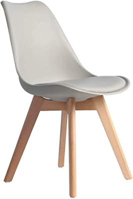 Soft-Packed Natural Wood Leg Chair for Office Lounge Restaurant Kitchen