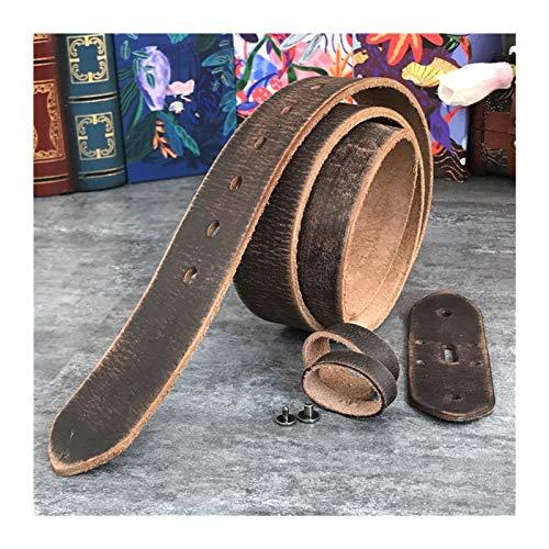 Without Herrengürtel Mens Gürtel Leder Ledergürtel Leder Vintage Ledergürtel ohne Schnallen Männer Gürtel Retro Herren Ledergürtel ohne Schnallen 95-130cm