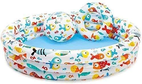 YAOHONG Folding Schwimmbad, Kinder aufblasbarer Swimmingpool, Ozean Ball Pool, Planschbecken, Kindersandbecken, Gartenpool Partyspielzeug