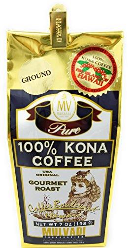 Mulvadi, Coffee Ground 100 Kona, 7 Ounce 100% Pure Instant Coffee