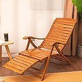 CCLLA Sillón Plegable Silla Mecedora de bambú para balcón Silla para el Almuerzo Silla Silla de Madera Maciza para el Almuerzo Silla remota Silla Perezosa para balcón Butaca -