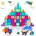 Anbalulu Magnet Tile Building Blocks Magnet Toys Extra Strong Magnets & Super Durable 3D Tiles, 100PCS Inspirational Educational Toys for Over 3 Years Old Boys Girls as Gifts