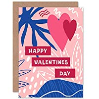 Tropical Love Happy Valentines Day Fun Floral Sealed Greeting Card Plus Envelope Blank inside トロピカル 愛 ハッピー