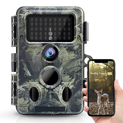 """4K 30MP Wildkamera, WLAN Bluetooth 940nm No Glow Nachtsicht Aytarr Jagdkamera mit 0,2 Auslösezeit 120 °breit IP66 wasserdichte 2,4 \""""LCD-Bildschirm"""