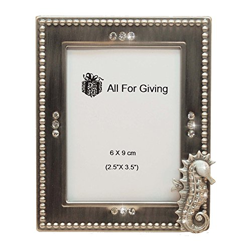 All For Giving Seahorse Picture Frame, 2.5 x 3.5, Pewter