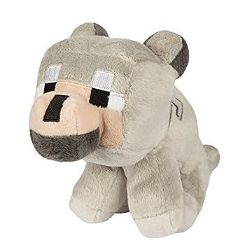 JINX Minecraft Baby Wolf Plush Stuffed Toy Gray 8  Tall
