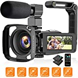 Best HD Video Cameras - Video Camera Camcorder 2.7K, Vlogging Camera for YouTube Review