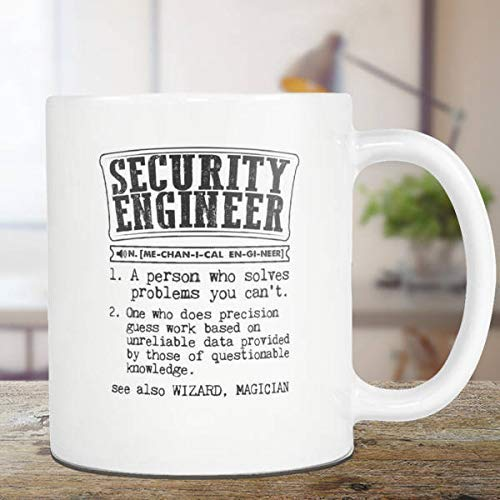 N\A ngeniero de Seguridad Taza de café Ingeniero de Seguridad Regalo Diccionario Definición Taza de té Regalo para él