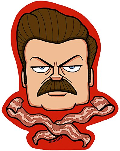 Ron Swanson Bacon Decal - for Cars, Laptops, and More! - Use Inside or Outside - Sicks to Any Flat Smooth Surface