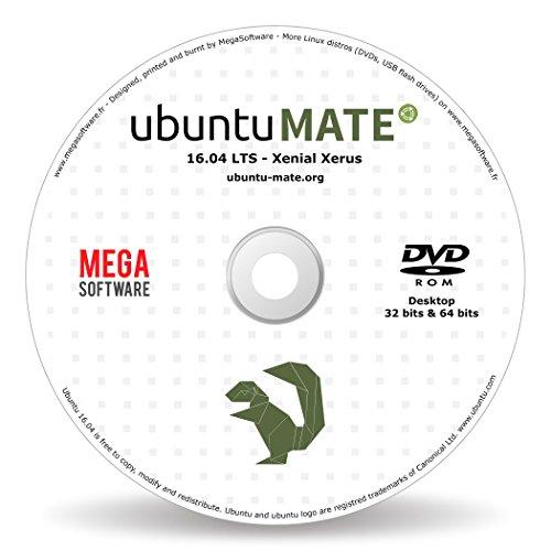Ubuntu MATE 16.04 Live - 32 & 64 bits - DVD