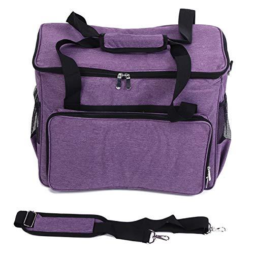Jeanoko Cubierta Antipolvo Máquina de Coser Bolsa de Almacenamiento Herramienta de conveniencia Aguja Regalo Lana(Purple)
