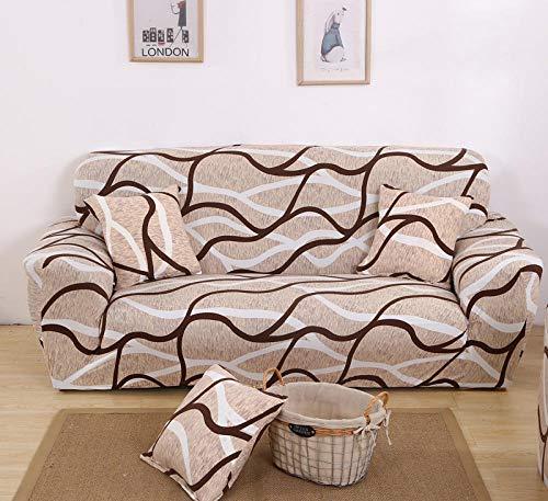 Allenger Funda de sofá Elastica,Funda de sofá elástica, Funda de protección de Muebles con patrón Impreso, Funda de cojín Antideslizante para Sala de Estar-Color 33_190-230cm