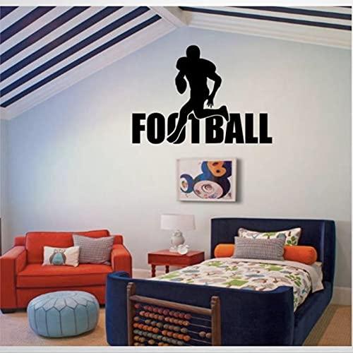 Calcomanía de fútbol para decoración de habitación de niños, diseño de fútbol y fútbol