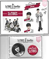 ジェシー Sixtones 1st Anniversary ステッカー 缶バッジセット