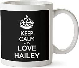 Idakoos Keep calm and love Hailey Mug 11 ounces