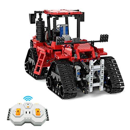 PEXL Technik LKW Bausteine Bausatz, Ferngesteuertes Traktor Modell mit Motors, 1566 Klemmbausteine Kompatibel mit Lego Technik