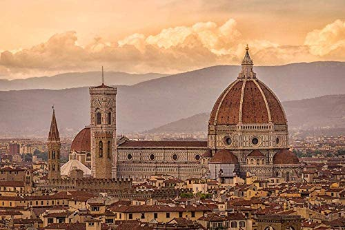 1000 piezas Puzzle Adulti Giocattolo Educativo per Bambini Regalo Florencia Firenze Italia Toscana Arquitectura Europa Rompecabezas de madera