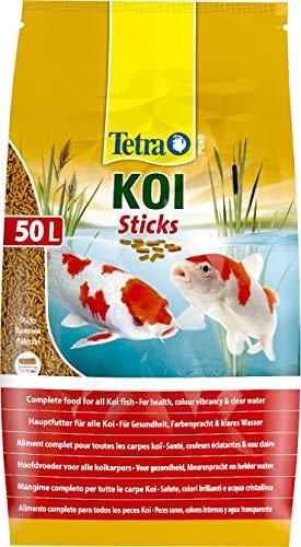 Tetra Pond Koi Sticks – Koifutter für farbenprächtige Fische und eine verbesserte Wasserqualität, 50 Liter