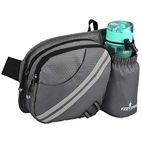 Hiking Waist Bag Fanny Pack with Water Bottle Holder for Men Women Running Dog Walking Can Hold iPhone 12 Pro Max Screen Size 6.7inch