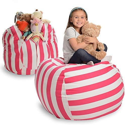 Amazoncom Creative Qt Stuffed Animal Storage Bean Bag Chair