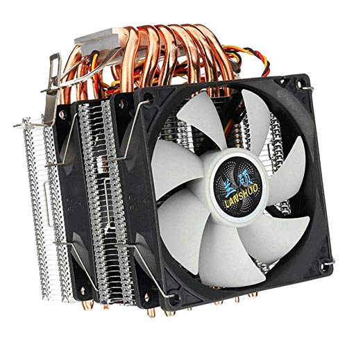 azfdxgfc CPU Kühler, Prozessorlüfter für Intel und AMD CPUs, 6 Heatpipes, Dual-Tower, 2 x 120mm Lüfters
