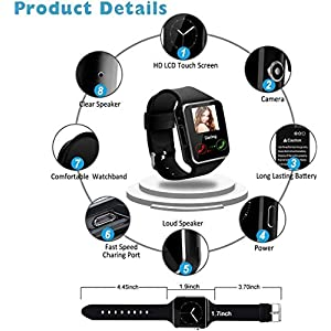 Smart Watch, Waterproof Smartwatch for Android Phones, Sport Fitness Watch with Heart Rate Sleep Monitor Activity Fitness Tracker Watch with Pedometer Calorie Compatiable for Samsung iOS Women Men