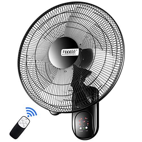 Wandventilator Wand-Ventilator Oszillierend 50cm Mit Fernbedienung und Timer/3 Geschwindigkeit/ 3 Windmodus/Aluminiumlegierung / 60W