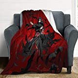 OAbear Naruto Blankets Itachi and Crow Weighted Blanket Flannel Fleece Blankets for Camping