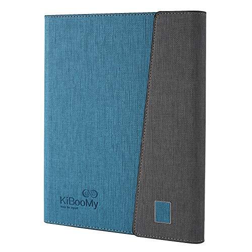 システム手帳カバー A5 KiBooMy PUレザー製 リフィル100枚付属 カード収納ケース付きA5サイズ メモ帳 ノート スタンダードタイプ 6穴リング ビジネス手帳